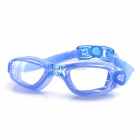 Amazon Hot Selling Transparent PC Lenses Silicone Swim Goggles Anti Fog