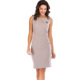 Lefancy New Western Design Sleeveless Knee Length Ladies Office Dress Fashion Women