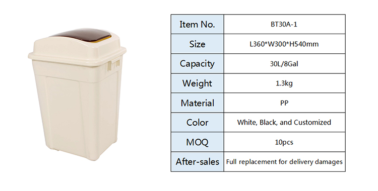 Residential Plastic Recycle Trash Can, Trash Can/
