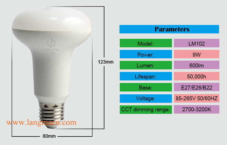 2.4g Rf Smart Edison E27 R30 Led Light Bulb Rgbw 9w Wifi Led Light ...