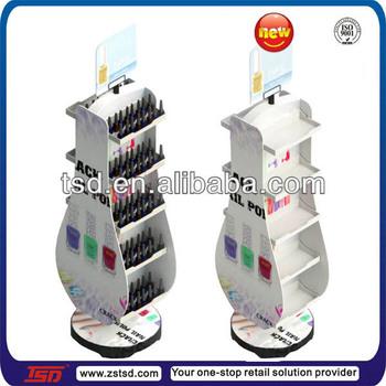 Tsd M176 Double Side Floor Standing Rotating Nail Polish Display Rack Nail Polish Display