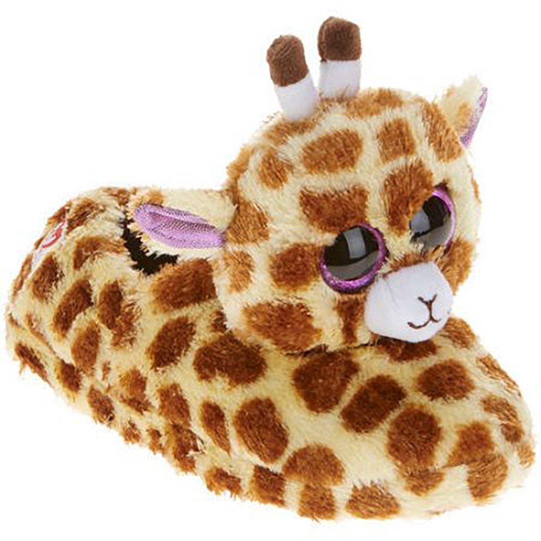 e0549546a85 Get Quotations · Ty Beanie Boo Beanie Boo Girls Winter Slippers Faux Fur  Safari Giraffe Slip On (S