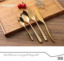 New products home decoration high quality brand dinnerware stainless steel tableware for events pvd gold cutlery sets