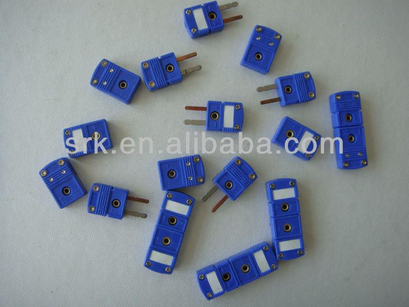 Plug clavijas planas 10 X T Tipo Termocupla Macho Mini Conectores Azul