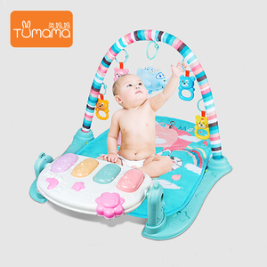 5bfbde37318 Hanging Toys Musical Soft Fabric Fitness Frame Carpet Playing Crawling  Piano Gym Baby Play Mat