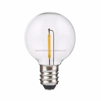 Gl Plastic Cover E17 Base G40 Globe String Lighting Ul Certificate Led Light Bulb
