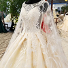 LS32770 Real high quality beaded long train spanish lace whole set wedding dress beautiful bridal dress