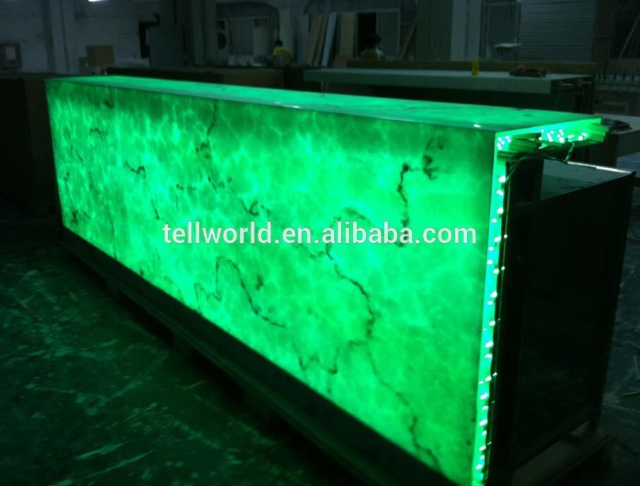 Piedra transparente barra de bar de dise o led de barra for Diseno de barras de bar