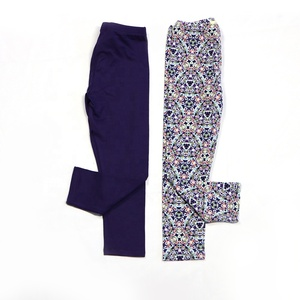 Hot sale high waisted embroidery winter warm legging