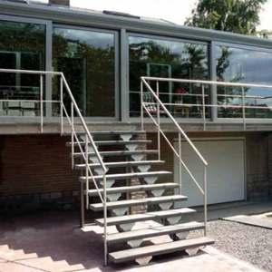 Deck stair stringers All Steel Outdoor Stair Stringers Fast DIY Stairs