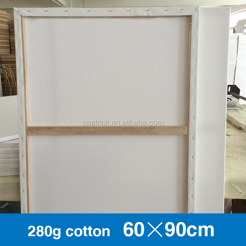 60*90CM 280g Hot sale blank stretched canvas for acrylic paints