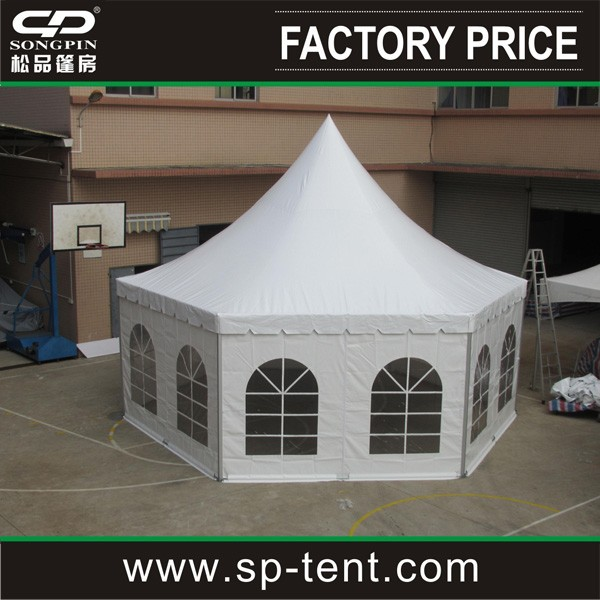 100% aluminum Pagoda party Tent with transparent PVC window in hot sale