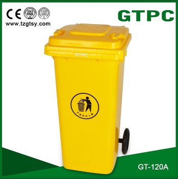 plastic medical garbage container