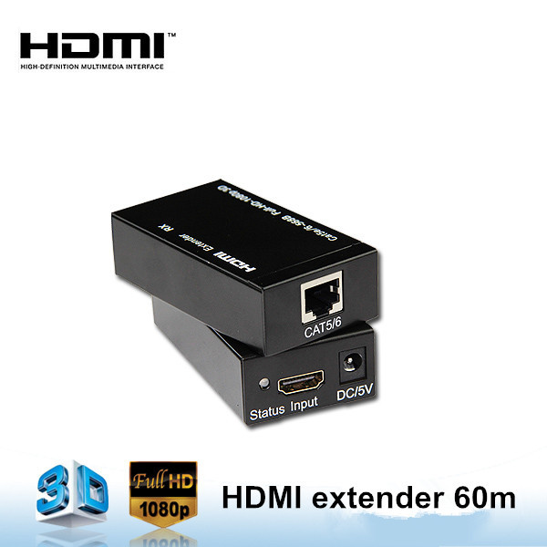 Wholesale Powerline HDMI Extender 60M over Single Cat5e/Cat6/Cat6a Ethernet Cable Support 3D 1080P