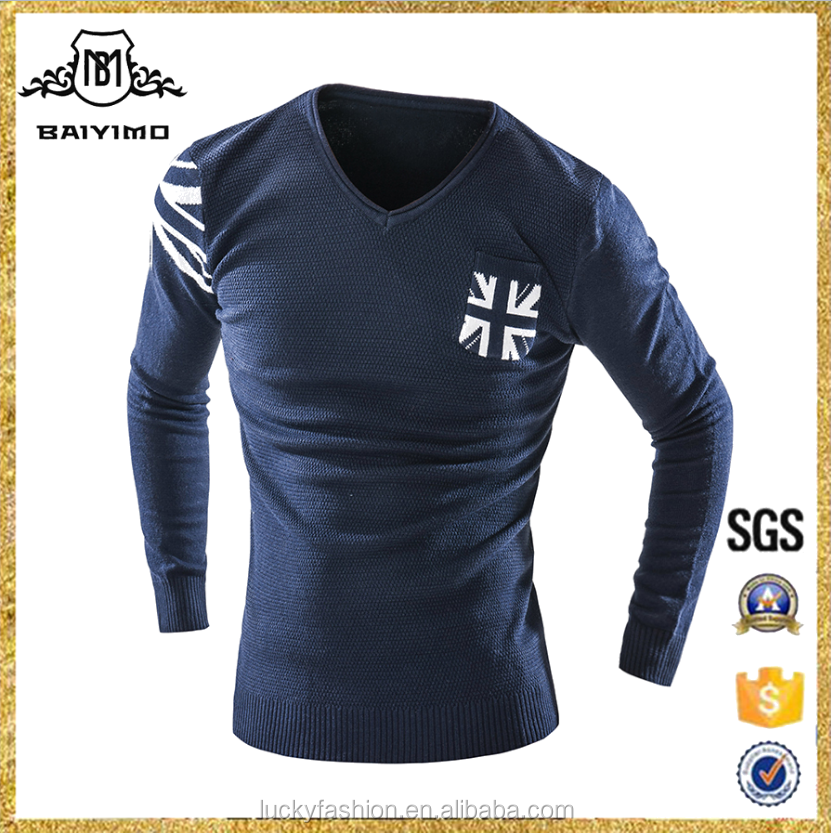 New Mens Pullover Knitwear Manufacturers Plain Design Sweater Leisure Business Style Pullover Sweater