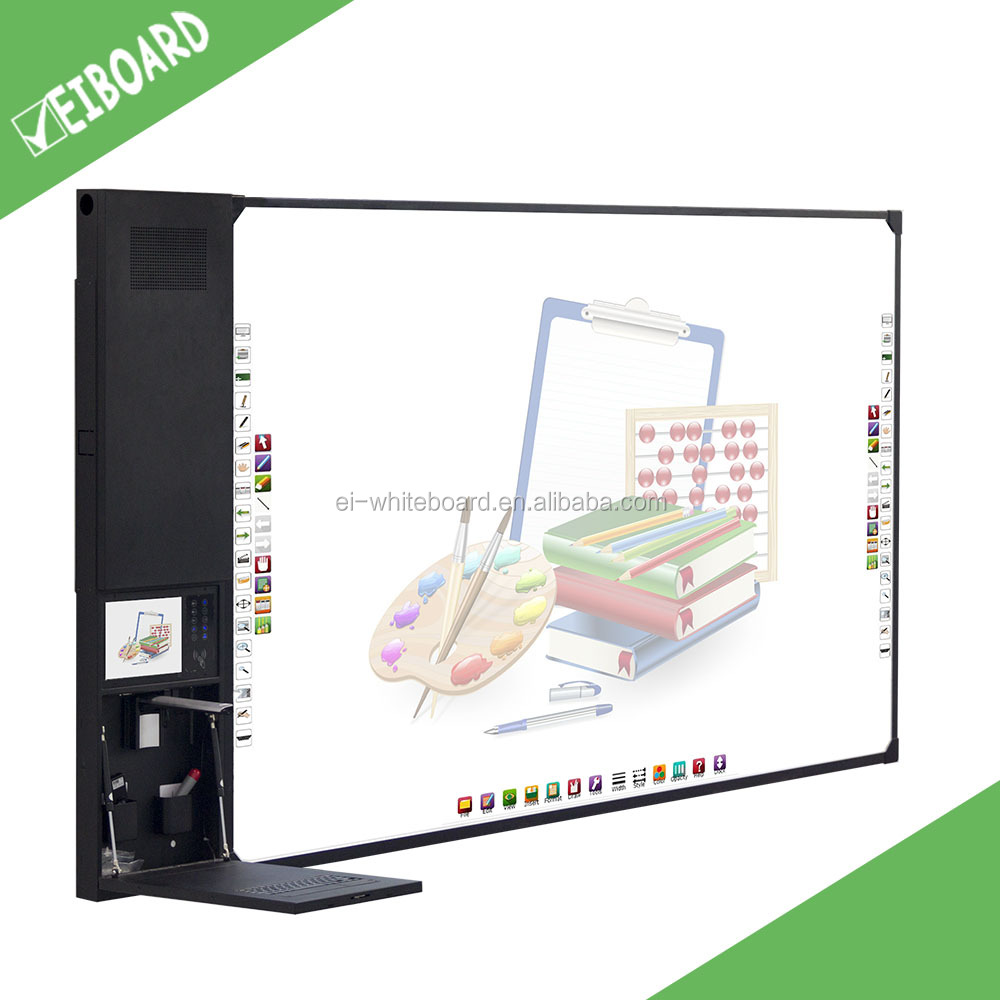 All-in-one smart board with standard whiteboard dimensions for school classroomEducation