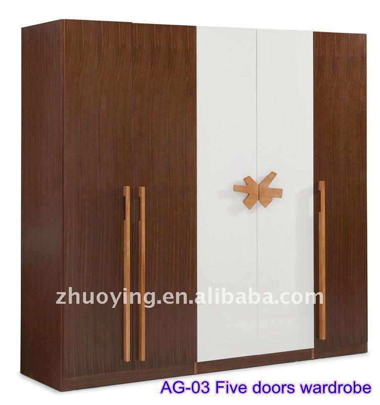 Bedroom Wooden Almirah Designs Modern Pvc Melamine Mdf Cabinet Wardrobe Walk In Storage Closet High Quality