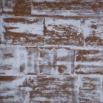 Weiße Farbe Innen Decoratin Kork Wand Dekoration Material Tapete