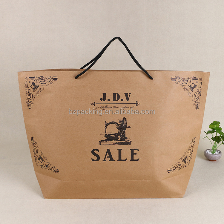 high quality branded retail extra large brown paper bags