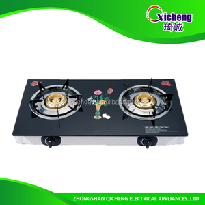Tempered glass 2 burners gas hob