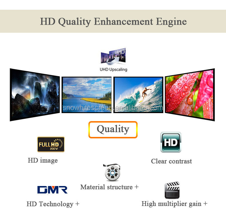 120''inch 16:9 Projector Screen -Long-focus Ambient Light Screen