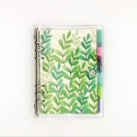 A5 6-Ring Loose Leaf Binder 80 Insert Pages 6 Index Divider Tabs 1 Clear Page Maker Refillable