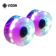Chinese Factory 60*45mm High Rebound PU LED Skateboard Flash Wheels