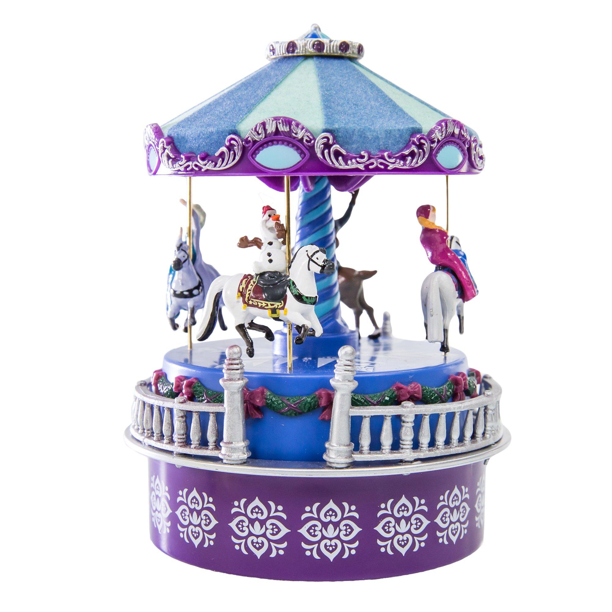 "Disney Frozen Mini Carousel - Wind-up version (4 1/2"" tall)"