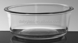 hot sale salad clear glass bowl