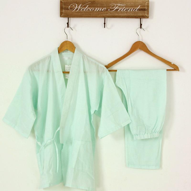 66023ad954 Get Quotations · Yukata Japanese Kimono Women Traditional Clothes  Double-Layer Cotton Gauze Kimono Pajamas Cotton Sleepwear Home