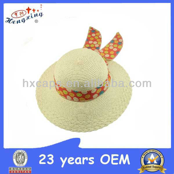 Promotional summer fishing craft straw hat cheap
