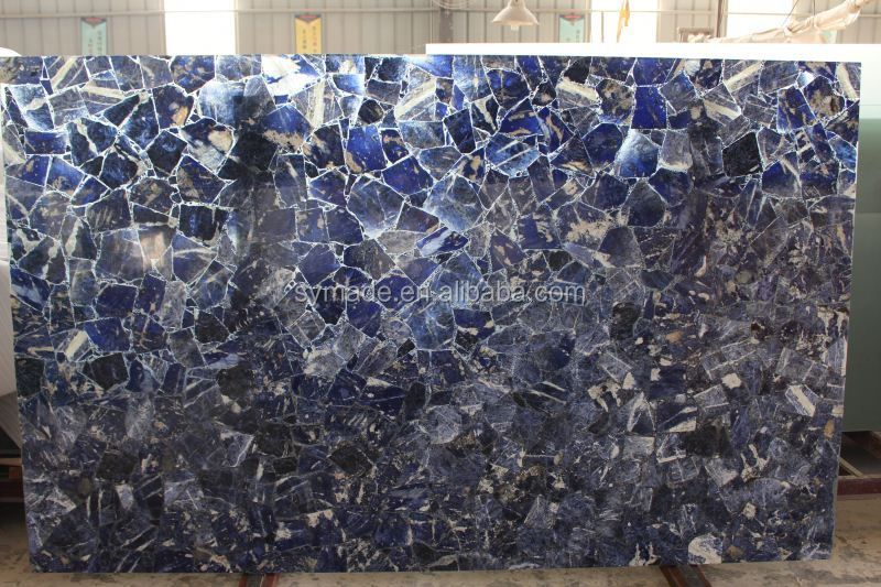Factory price funiture Brazil Blue sodalite granite marble table/funiture