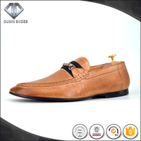 High Quality waxed sheepskin loafer chaussure very soft men casual shoes