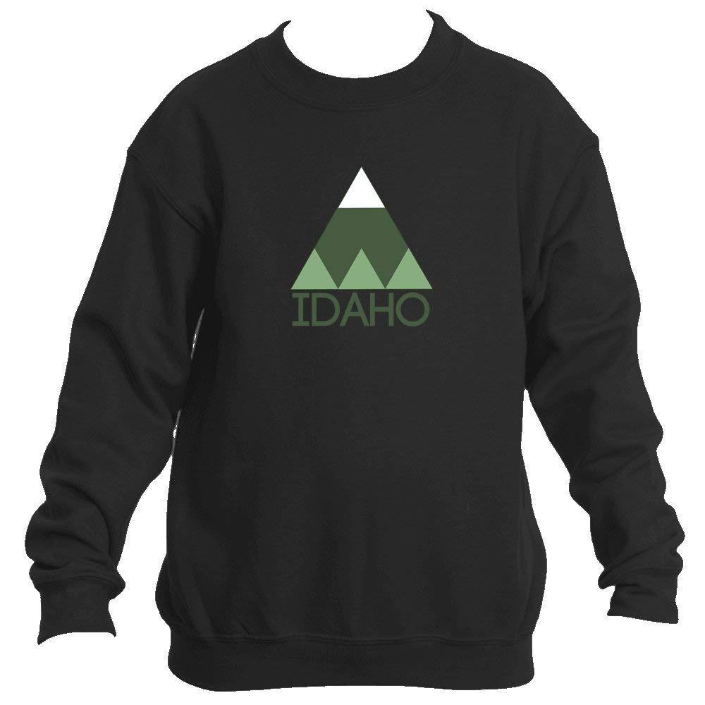 Minimal Mountain - Idaho Youth Fleece Crew Sweatshirt - Unisex