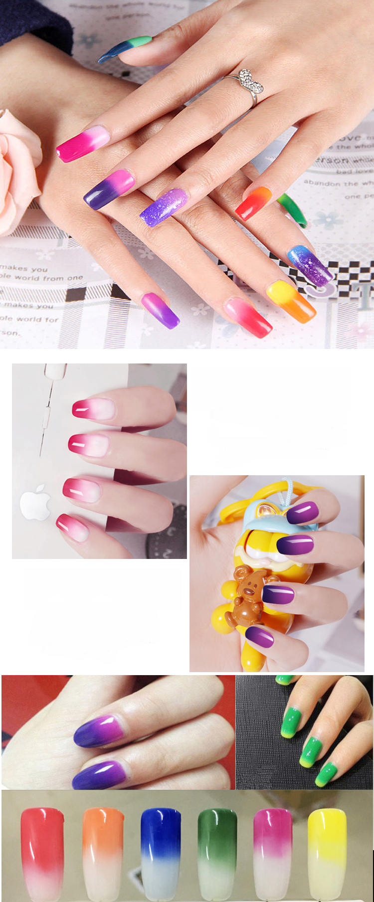 Nail Manicure Care Magic Double Color Change Temperature Gel Uv Soak ...