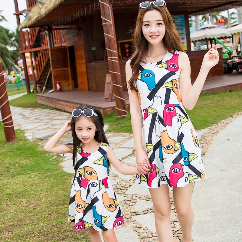 Beach matching mother and daughter clothes mom and daughter dress mommy and me family clothes mommy