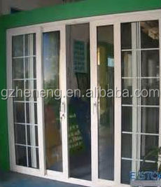 Low Price High Quality UPVC White Pastic Exterior Balcony Sliding Glass Door
