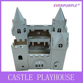 nuevo diseo de material reciclable puede pintar la casa de juegos nios castillo casa de