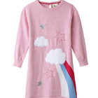 2019 wholesale baby girl cotton knitted child party princess sweater dress for kid girl