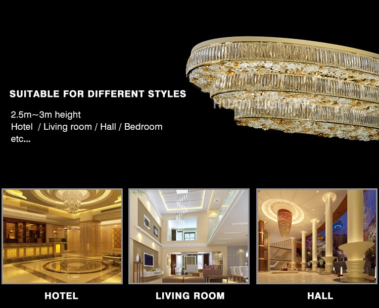 Crystal chandeliers Alloy Large luxurious high end crystal chandelier