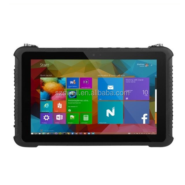 GONFLER i10H tablette pc avec d'empreintes digitales en option 13.56MHz NFC rfid lecteur bandoulière double OS en option tablette pc robuste