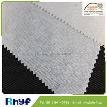 High quality fusible interlining, enzyme washing interlining, 100%polyester garment using fusible interlining fabric