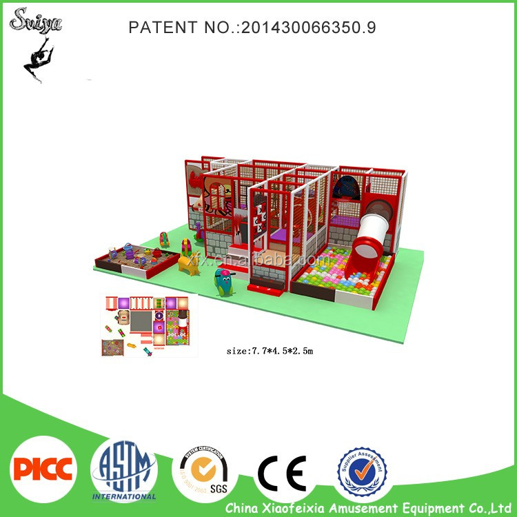 China supplier Puzzle small commercial indoor playground equipment