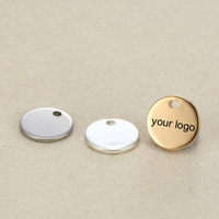 Shape customizable blank design stainless steel wholesale engravable charms