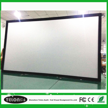 Projection Screen Diy Flat Fixed Frame Cinema Display 3d Sliver Home ...