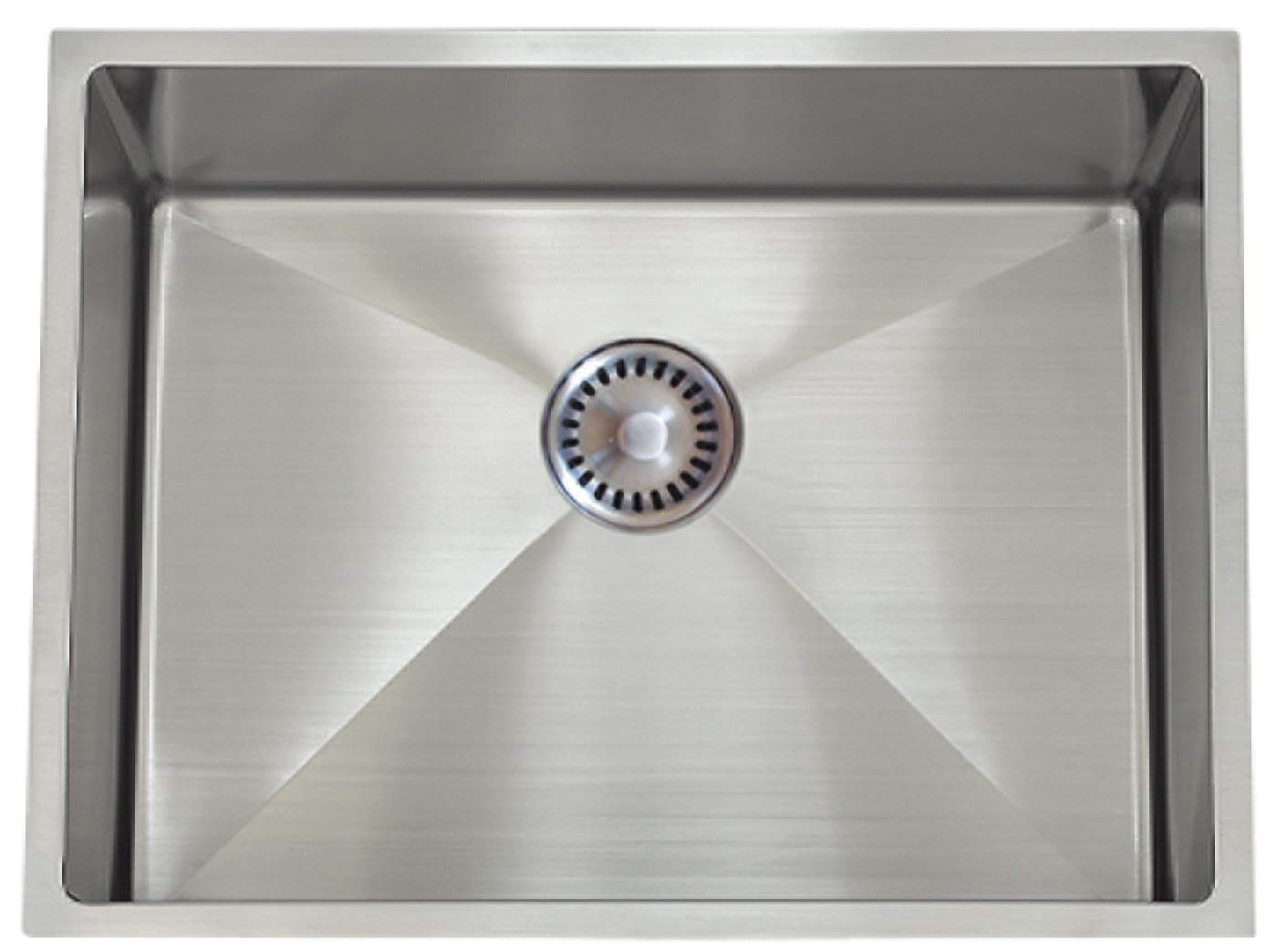 Lenova PC-SS-12Ri-S22 PermaClean 16-Gauge Stainless Steel Single Bowl Under-Mount Kitchen Sink, 22-1/2 x 17-1/2-Inch