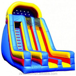 INFLATABLE DRY SLIDE 24' INDOOR SLIDE WITH SIDE EXITS