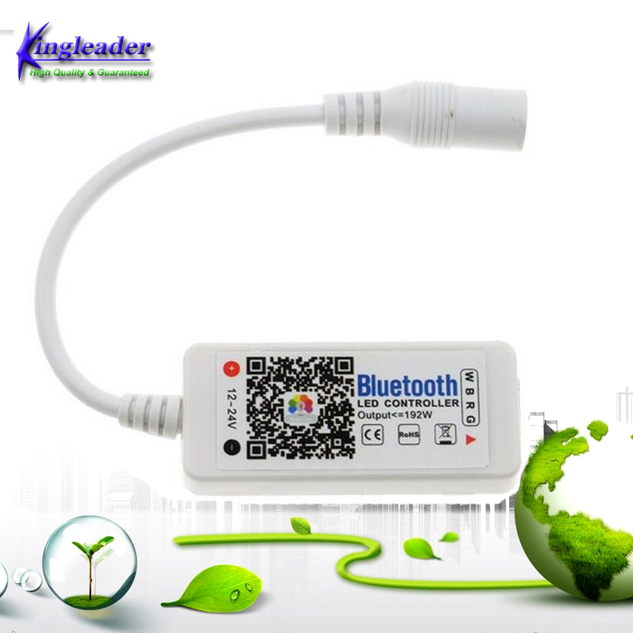 Mini LED RGBW Bluetooth 4.0 Controller For LED Strip Light DC 12V-24V Phone App