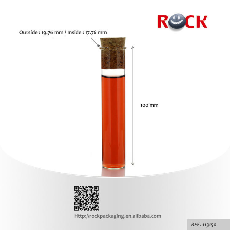 Mini crystal glass test tube with cork made in China_113150