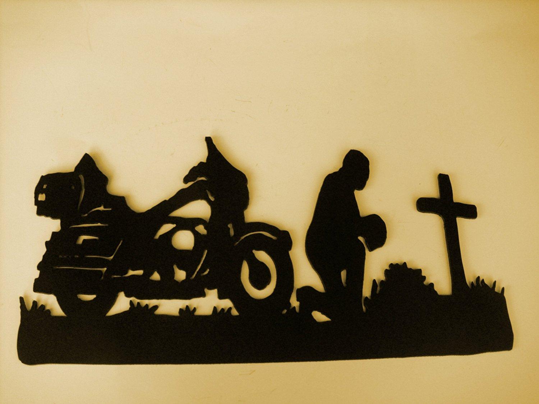 Buy MotorCycle,Biker,Rider, Praying, Metal art, Wall Decor ...